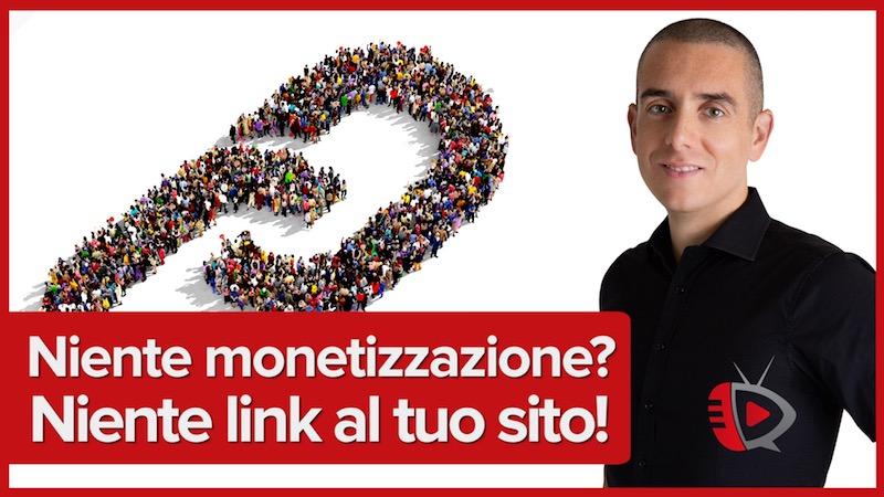 Niente monetizzazione? Niente link al tuo sito! Novità di Youtube sui link esterni