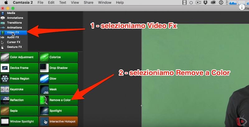 Tutorial Chroma Keying in Camtasia - Come usare il green screen per rimuovere lo sfondo