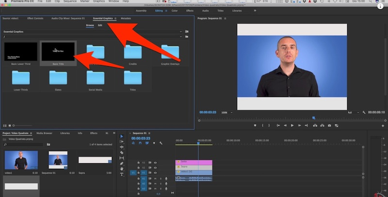Come realizzare Video Quadrati per Facebook con Premiere Pro