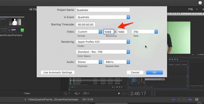 Come realizzare Video Quadrati per Facebook con Final Cut Pro X