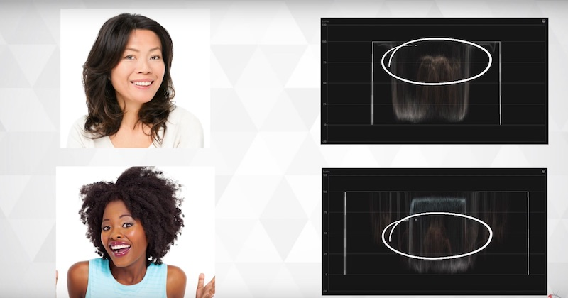 Come capire se la tonalità della pelle è corretta col Vettorscopio